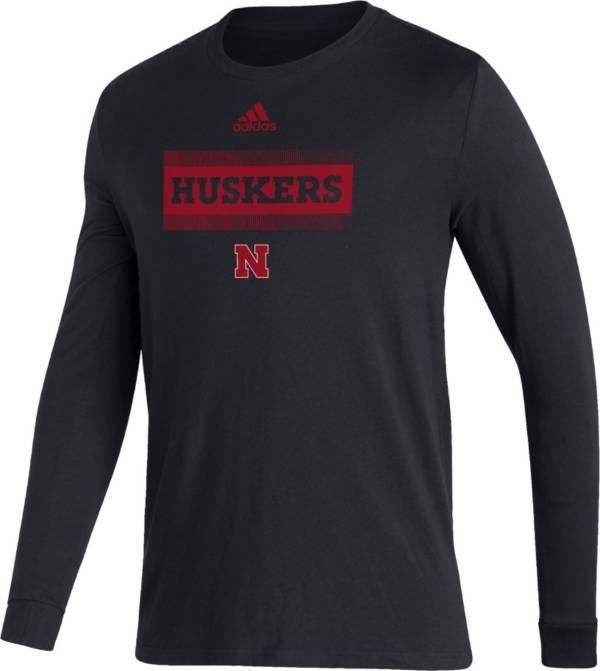 adidas Men's Nebraska Cornhuskers Black Amplifier Locker Room T-Shirt product image