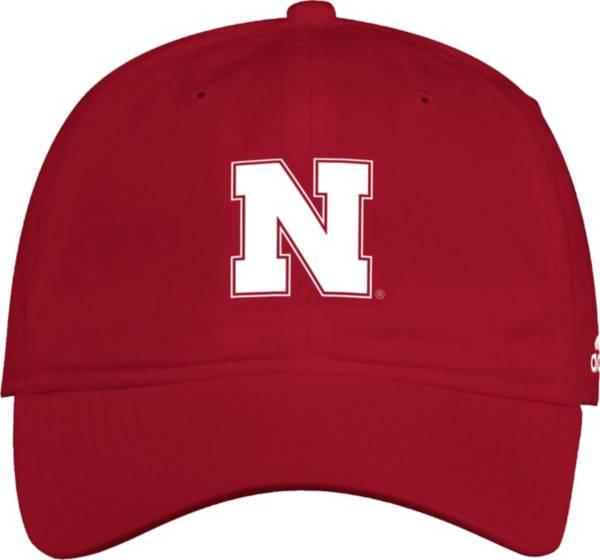 adidas Men's Nebraska Cornhuskers Scarlet Slouch Adjustable Hat product image