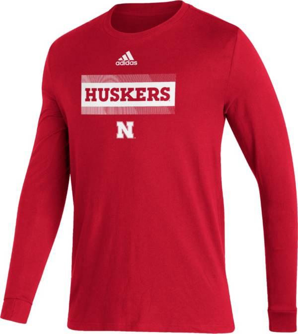 adidas Men's Nebraska Cornhuskers Scarlet Amplifier Locker Room T-Shirt product image