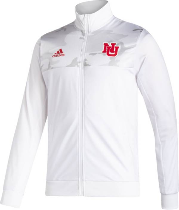 adidas Men's Nebraska Cornhuskers Scarlet Reverse Retro Full-Zip Jacket product image