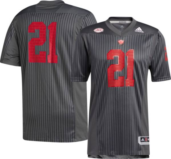 adidas Men's NC State Wolfpack #21 Grey 'LIGHT IT RED' Reverse Retro Replica Football Jersey product image