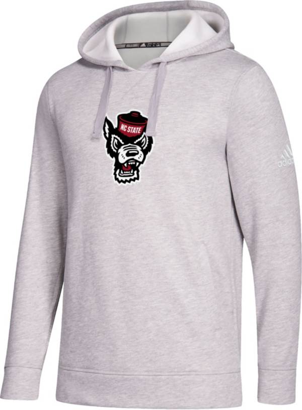 adidas Men's NC State Wolfpack Grey Logo Fleece Pullover Hoodie product image