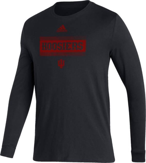 adidas Men's Indiana Hoosiers Black Amplifier Locker Room T-Shirt product image