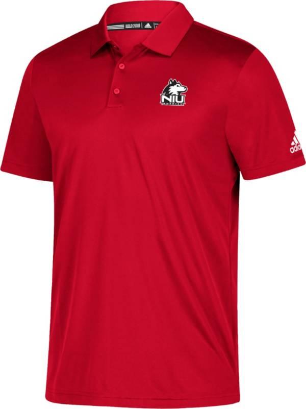 adidas Men's Northern Illinois Huskies Cardinal Grind Polo product image