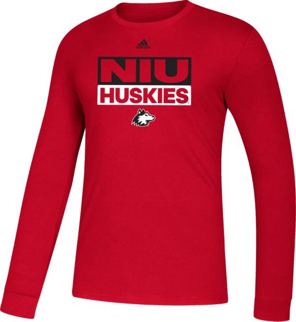 adidas Men's Northern Illinois Huskies Cardinal Amplifier Long Sleeve T-Shirt product image