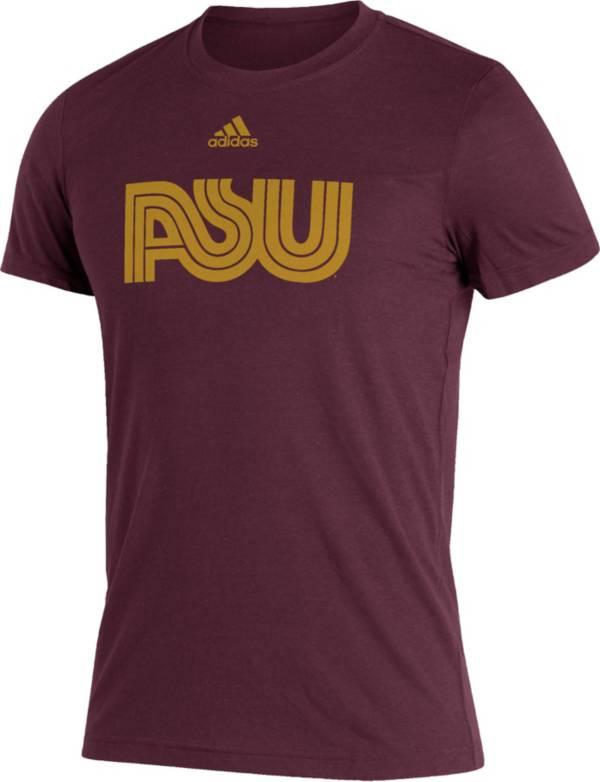 adidas Men's Arizona State Sun Devils Maroon Reverse Retro T-Shirt product image