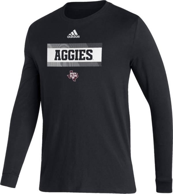 adidas Men's Texas A&M Aggies Black Amplifier Locker Room T-Shirt product image