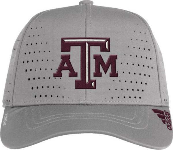 adidas Men's Texas A&M Aggies Grey Performance Adjustable Hat product image