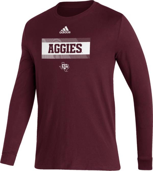 adidas Men's Texas A&M Aggies Maroon Amplifier Locker Room T-Shirt product image