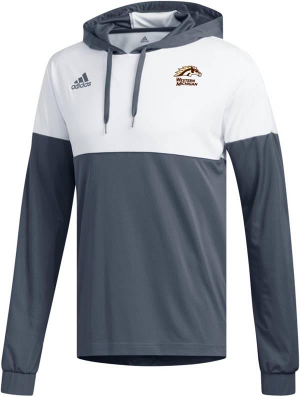adidas Men's Western Michigan Broncos Grey Legend Shooter Long Sleeve Shirt product image