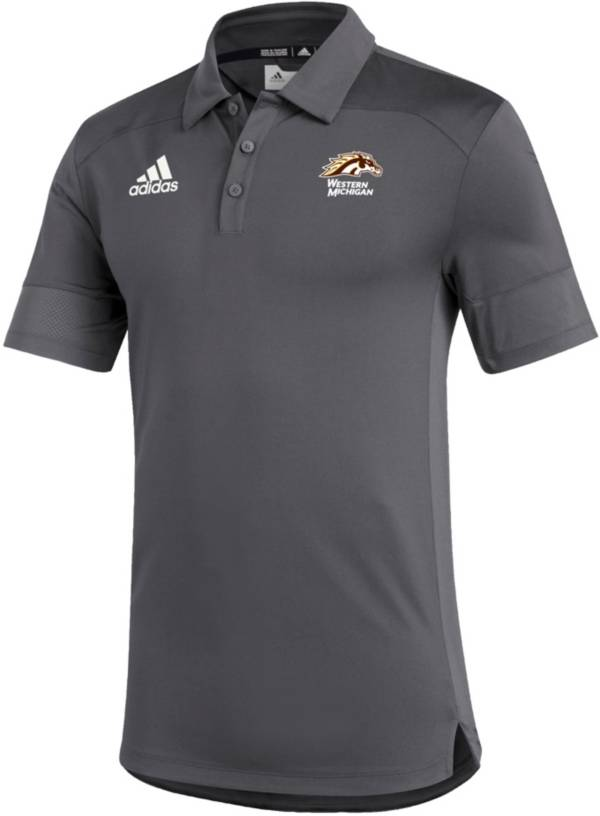 adidas Men's Western Michigan Broncos Grey Under the Lights Coaches Sideline Polo product image
