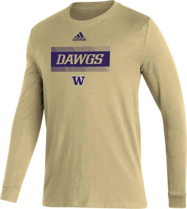 adidas Men's Washington Huskies Gold Amplifier Locker Room T-Shirt product image