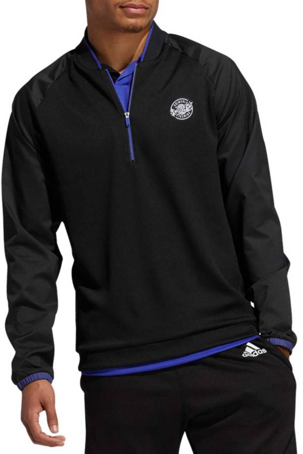 adidas Men's Primeblue Quarter Zip Polo product image