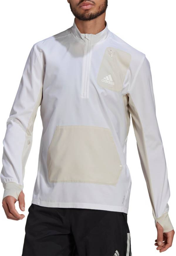 adidas Men's Primeblue For The Oceans 1/2 Zip Running Jacket product image