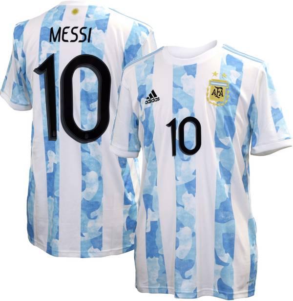 adidas Men's Argentina '21-'22 Lionel Messi #10 Home Replica ...