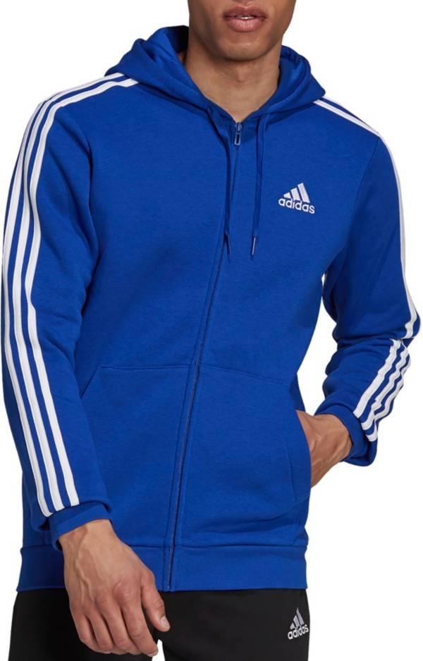 adidas Men's Essentials Fleece 3-Stripes Full Zip Hoodie product image