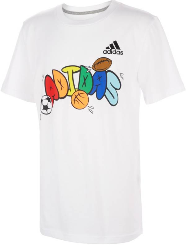 adidas Little Boys' Bubble Letter Graphic T-Shirt product image