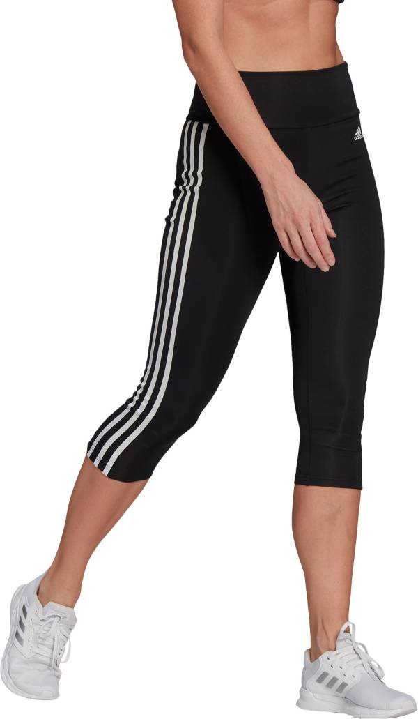 adidas Women's Designed 2 Move High-Rise 3-Stripes 3/4 Sport Tights product image