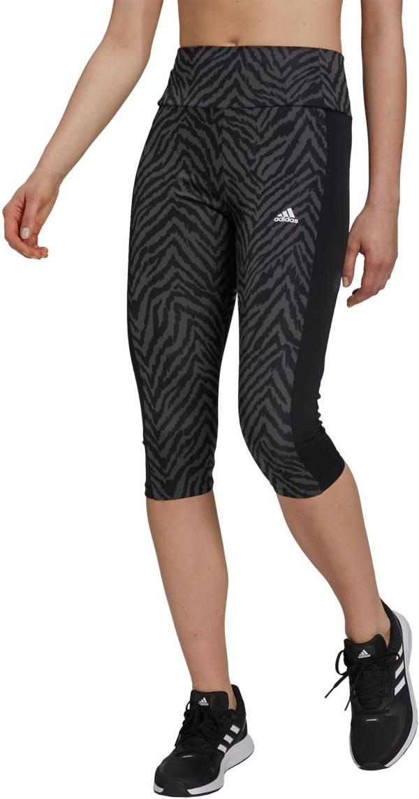 adidas Adult High Rise Sport Zebra Capri Tights product image