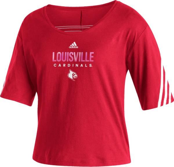 adidas Women's Louisville Cardinals Cardinal Red Lifestyle T-Shirt product image