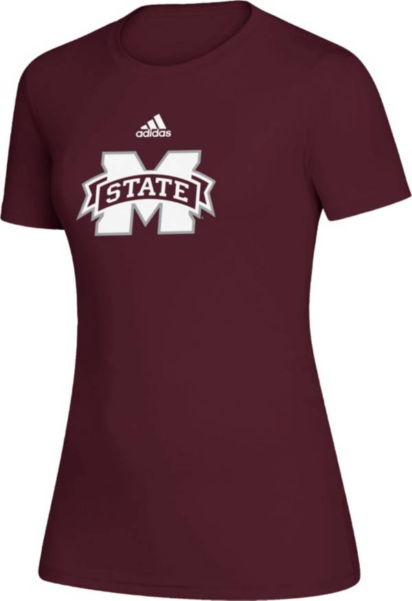 adidas Women's Mississippi State Bulldogs Maroon Amplifier Locker Room T-Shirt product image