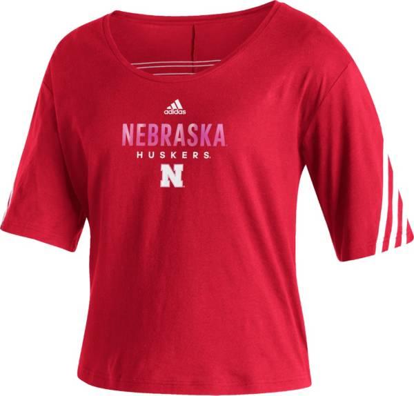 adidas Women's Nebraska Cornhuskers Scarlet Lifestyle T-Shirt product image