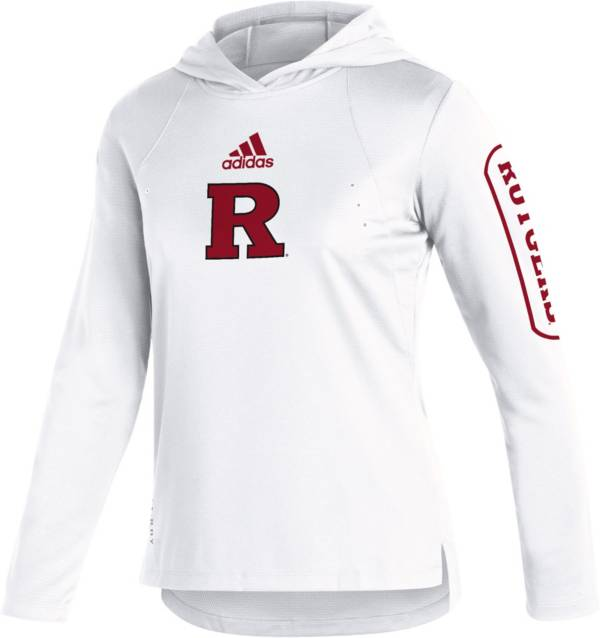 adidas Women's Rutgers Scarlet Knights White Long Sleeve Hooded Performance T-Shirt product image
