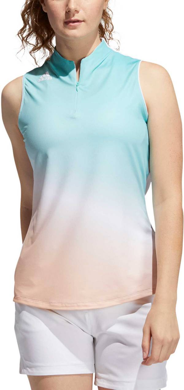 adidas Women's Sleeveless AEROREADY Polo Shirt product image