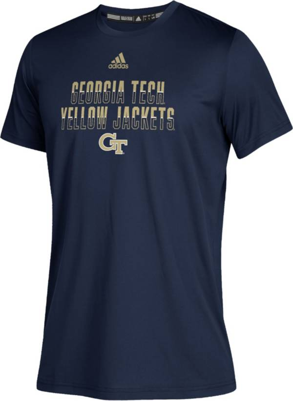 adidas Youth Georgia Tech Yellow Jackets Navy Climatech Performance T-Shirt product image