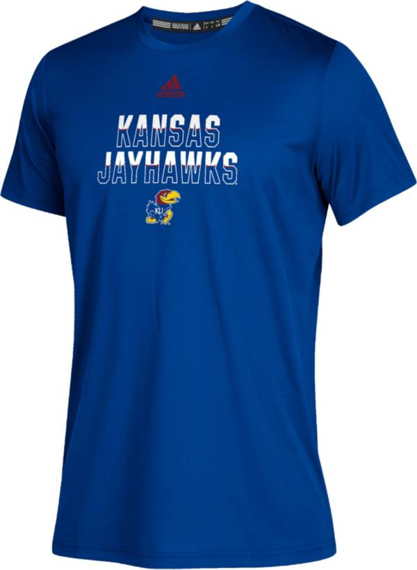 adidas Youth Kansas Jayhawks Blue Climatech Performance T-Shirt product image