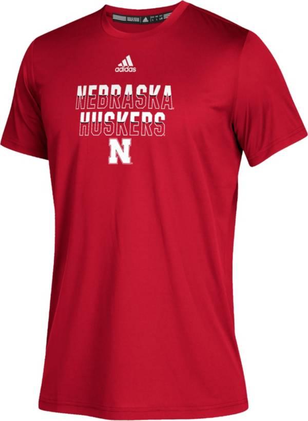 adidas Youth Nebraska Cornhuskers Scarlet Climatech Performance T-Shirt product image