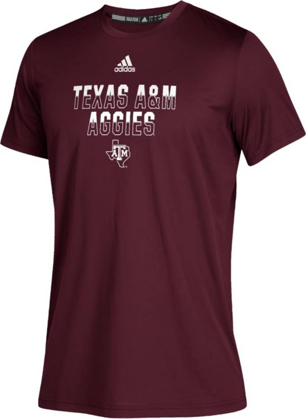adidas Youth Texas A&M Aggies Maroon Climatech Performance T-Shirt product image