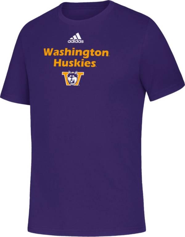 adidas Youth Washington Huskies Purple Amplifier T-Shirt product image