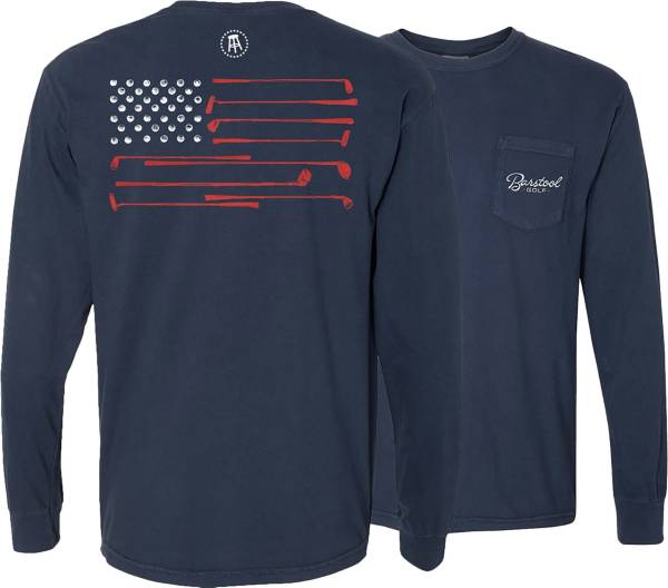 Barstool Sports Men's Flag Pocket Long Sleeve Golf Shirt product image