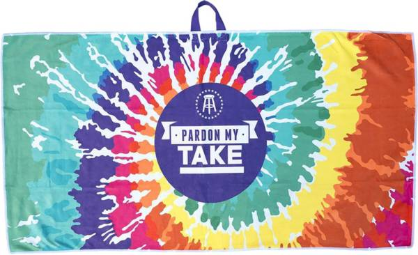 Barstool Sports Pardon My Take Tie-Dye Golf Towel product image