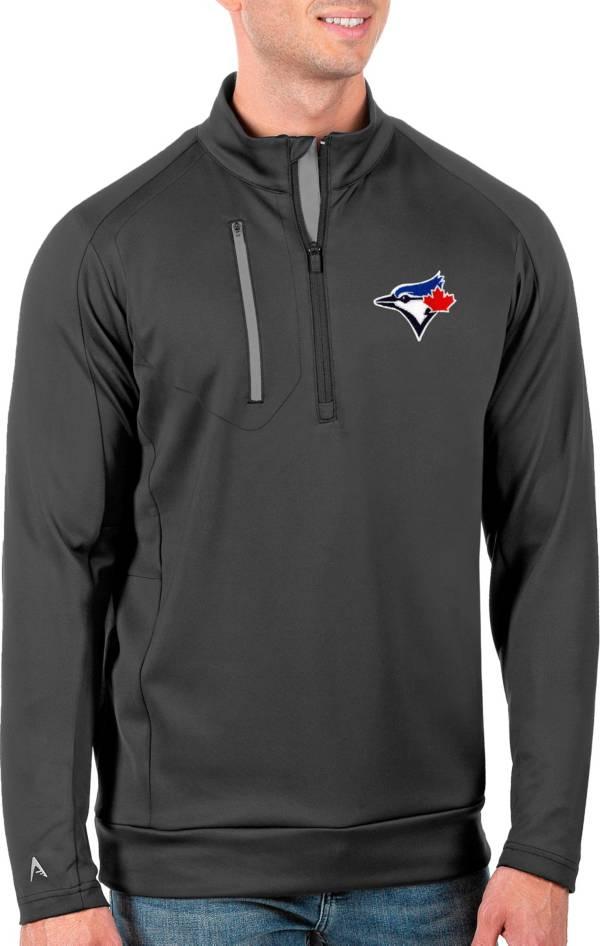 Antigua Men's Tall Toronto Blue Jays Generation Carbon Half-Zip Pullover product image