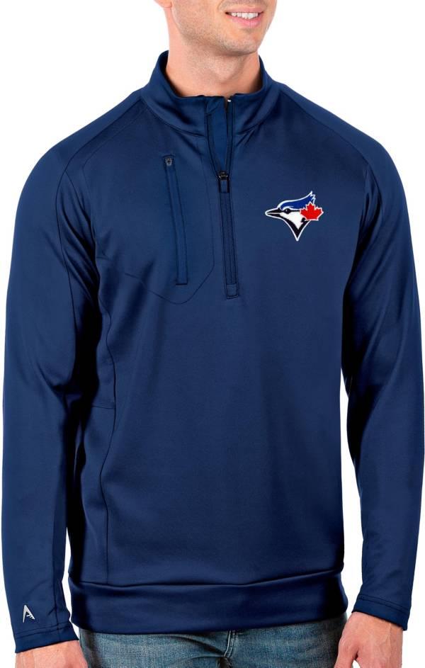 Antigua Men's Tall Toronto Blue Jays Generation Royal Half-Zip Shirt product image