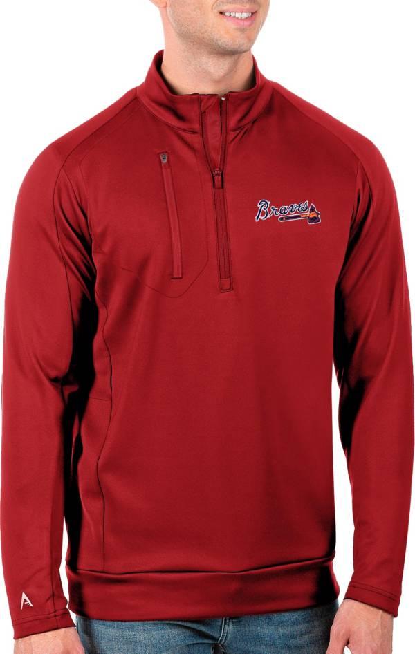 Antigua Men's Tall Atlanta Braves Generation Red Half-Zip Pullover product image