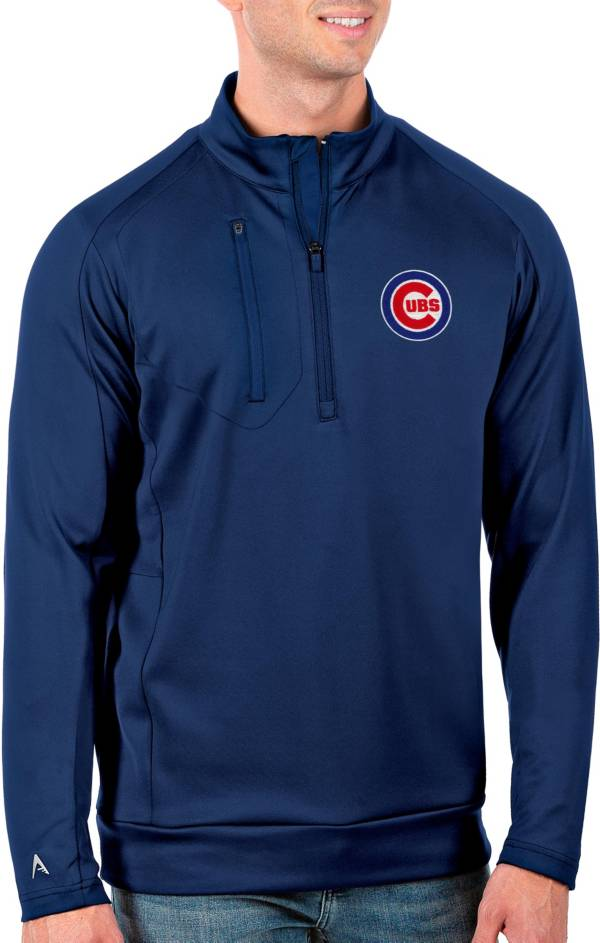 Antigua Men's Tall Chicago Cubs Generation Royal Half-Zip Pullover product image