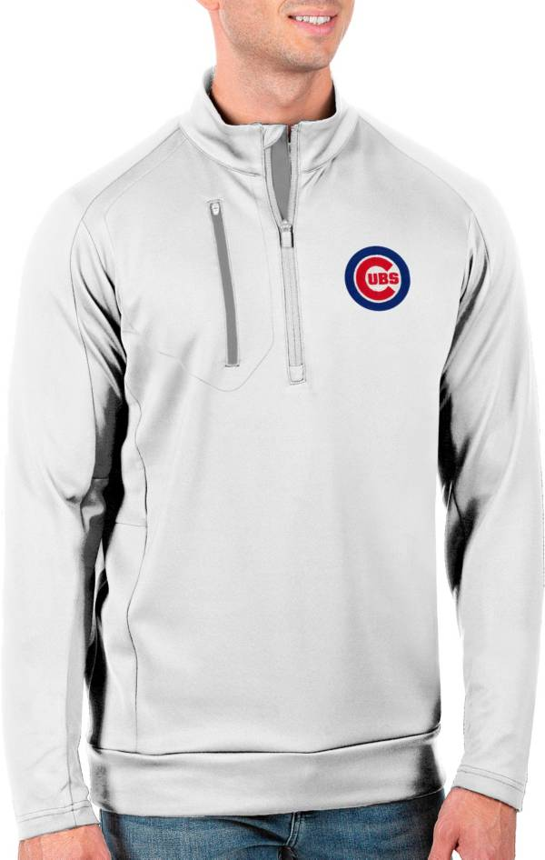Antigua Men's Tall Chicago Cubs Generation White Half-Zip Pullover product image