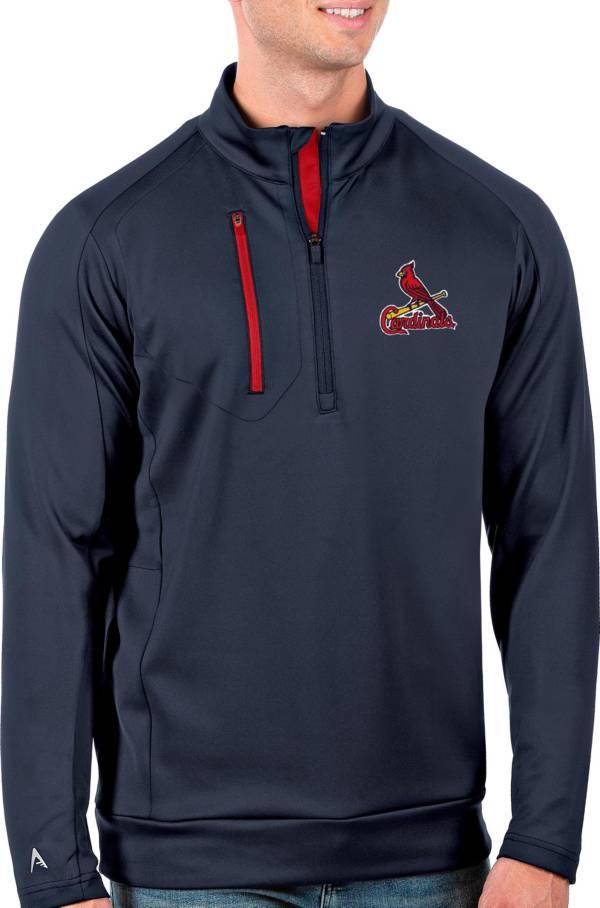 Antigua Men's St. Louis Cardinals Generation Navy Half-Zip Pullover product image