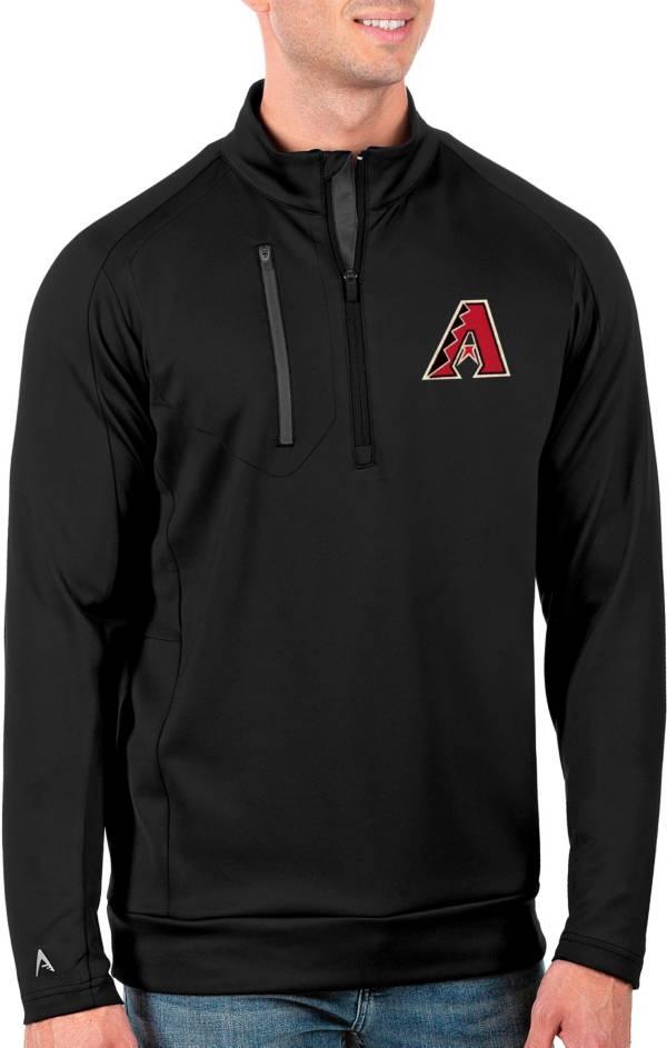 Antigua Men's Tall Arizona Diamondbacks Generation Black Half-Zip Pullover product image