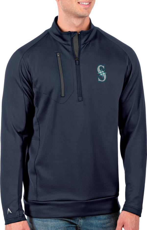 Antigua Men's Tall Seattle Mariners Generation Navy Half-Zip Pullover product image