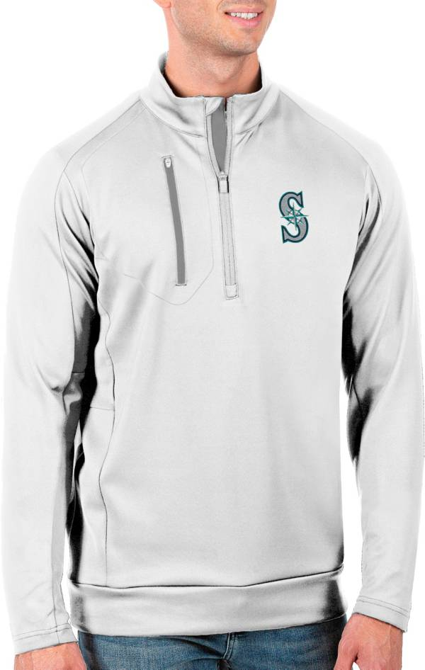 Antigua Men's Tall Seattle Mariners Generation White Half-Zip Pullover product image