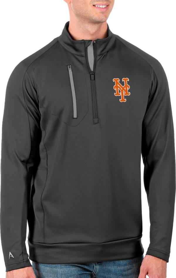 Antigua Men's Tall New York Mets Generation Carbon Half-Zip Pullover product image