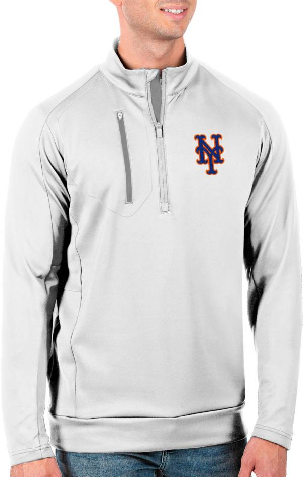 Antigua Men's Tall New York Mets Generation White Half-Zip Pullover product image
