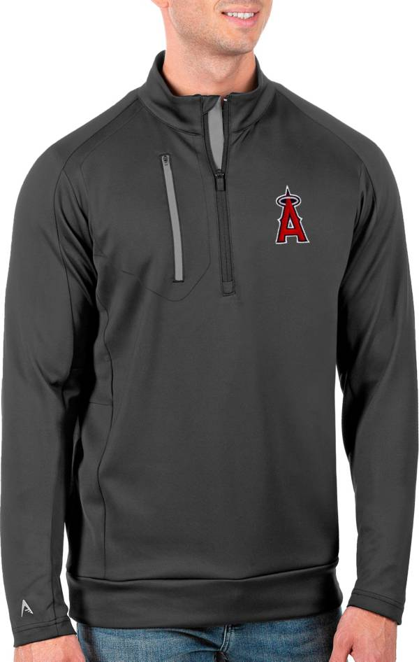 Antigua Men's Tall Los Angeles Angels Generation Carbon Half-Zip Pullover product image