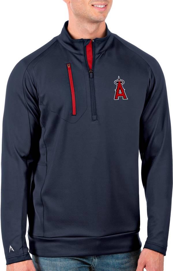 Antigua Men's Tall Los Angeles Angels Generation Navy Half-Zip Pullover product image