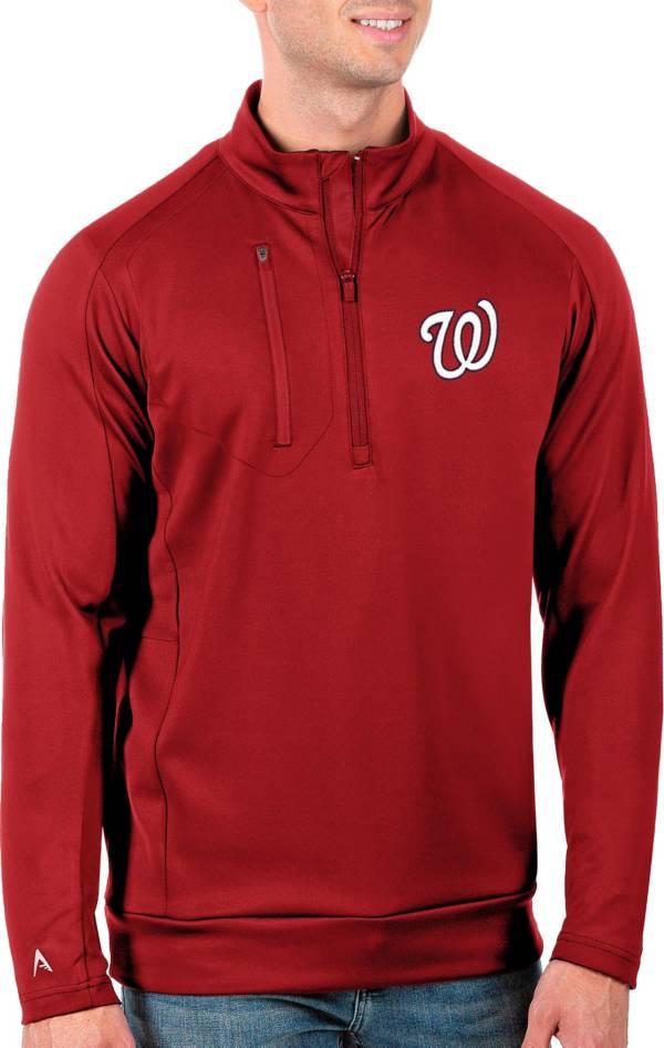 Antigua Men's Tall Washington Nationals Generation Red Half-Zip Pullover product image