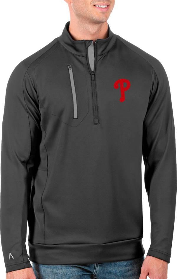 Antigua Men's Tall Philadelphia Phillies Generation Carbon Half-Zip Pullover product image